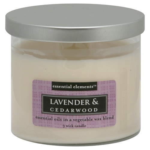 Essential Elements 3 Wick Candle, Lavender & Cedarwood 1 candle 14.75 oz (418 g)