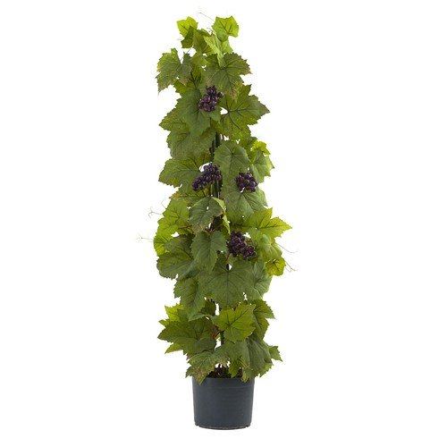 Nearly Natural 40 in. Grape Leaf Deluxe Climbing Plant