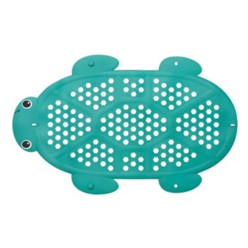 Infantino 2-in-1 Turtle Bath Mat and Storage Basket in Green