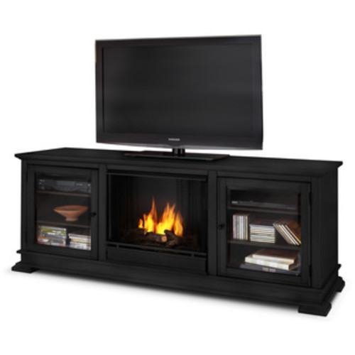 Real Flame Frederick Blackwash 72 in. L x 15.5 in. D x 30.1 in. H Gel Entertainment Fireplace - Frederick Gel Fireplace Real Flame-Blackwash