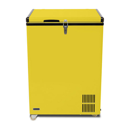 Whynter 95 Quart Portable Wheeled Freezer with Door Alert and 12v Option - Limited Edition Yellow