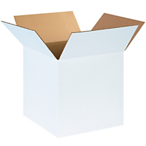 Office Depot Brand White Corrugated Cartons, 14