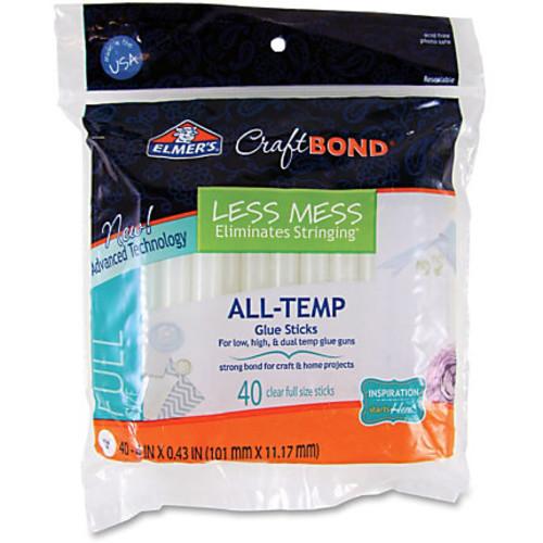 Elmer's CraftBond Less Mess All-Temp Glue Sticks - 40 / Pack - Clear