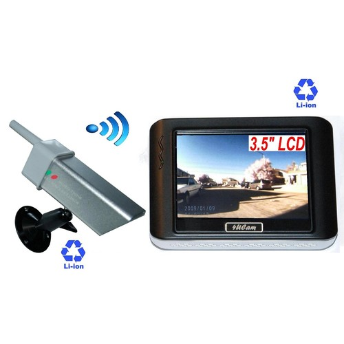 4UCam 3.5-inch Magnetic Portable Wireless Camera System Rechargeable Battery Built-in Monitor and Wireless Magnetic Camera