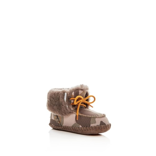Boys' Sparrow Camo Print Shearling Lace Up Booties - Baby