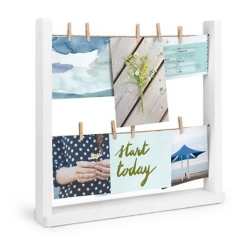 Umbra Hangit Desk Photo Frame Display in White