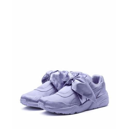 FENTY PUMA BY RIHANNA Trinomic Bow Satin Platform Sneaker, Purple