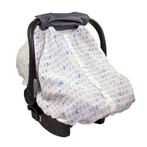Summer Infant 2-in-1 Carry & Cover Car Seat Canopy in Grey