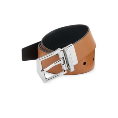 BURBERRY James London Reversible Leather Belt