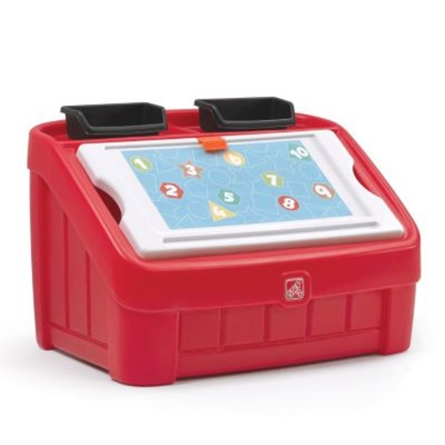 Step2 Red 2-in-1 Toy Box and Art Lid