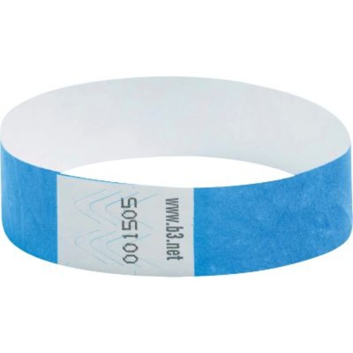 Baumgartens Security Wrist Band, Tear-Resistant, Blue, 3/4