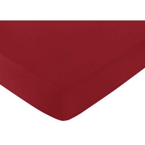 Sweet Jojo Designs Modern Hotel Red Fitted Crib Sheet