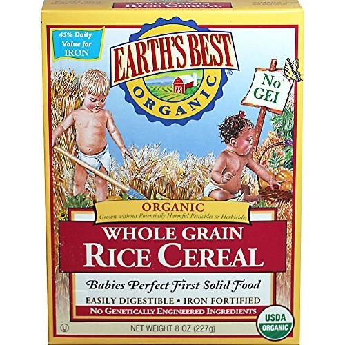 Earth's Best Certified Organic Whole Grain Rice Cereal -- 8 oz