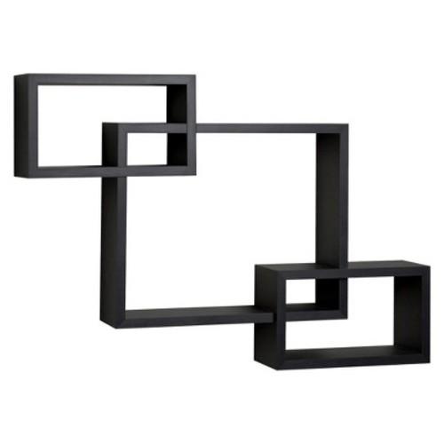 Danya B Intersecting Rectangular Wall Shelf - Black