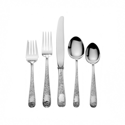 Maryland Sterling Silver Engraved 5-piece Place Setting
