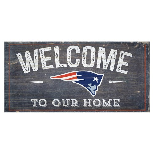 England Patriots Distress Welcome Sign
