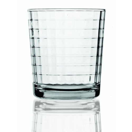 Palais Glassware Vitre Collection; High Quality Glass Beverage Set (Set of 4 - 13 Oz DOF Glasses, Cl