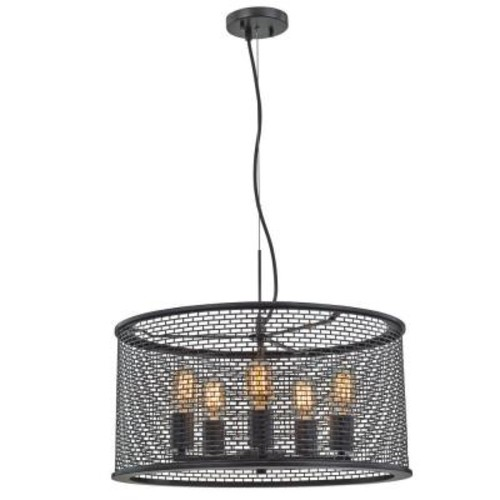 Decor Living Roland 5-Light Oil-Rubbed Bronze Pendant