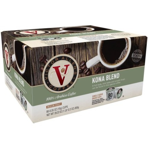 Victor Allens Kona Coffee (80 Single Serve Cups per Case)