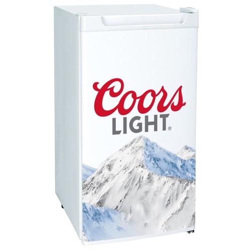 Coors Lite 3.2 Cubic foot Mini Bar, Dorm, Home Beverage Cooler Fridge Refrigerator, White