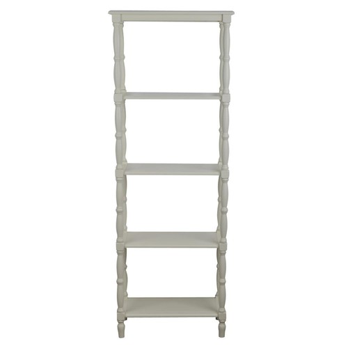 Decor Therapy Simplify Off-White 5-Tiered Bookcase