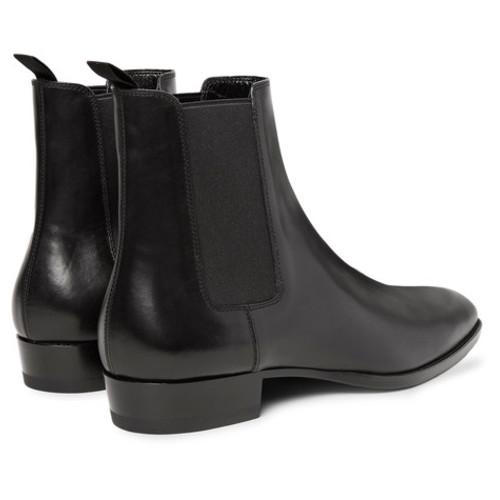Saint Laurent - Polished-Leather Chelsea Boots
