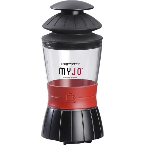 Presto - MyJo 1-Cup Coffeemaker - Black/Red