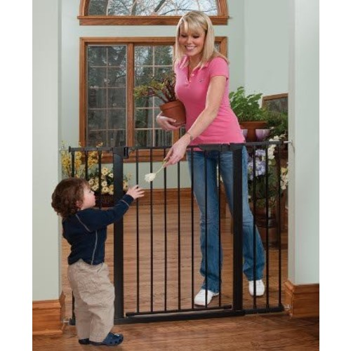 KidCo Tall & Wide Auto-Close Gateway Pressure-Mounted Gate, Black [Black]