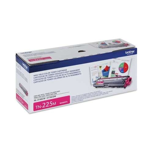 Brother High Yield Magenta Toner Cartridge - Yields Approx. 2,200 Pages - TN225M