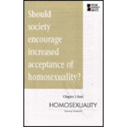 Should Society Encourage Increased Acceptance of Homosexuality?