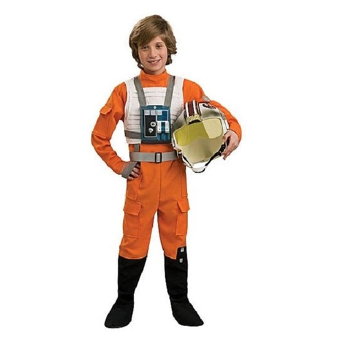 Star Wars Clone Wars X-Wing Fighter Pilot Halloween Costume - Child Size 12/14