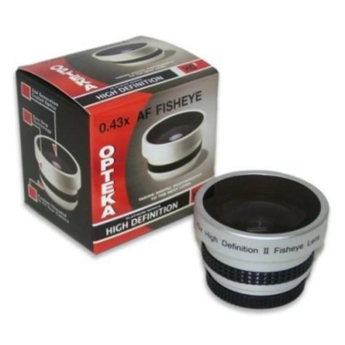 Opteka 0.43x HD2 Full Fisheye Lens for Canon ZR100, ZR200, ZR300, MV800, MV800i, MV830, MV830i and MV850i Digital Video Camcorders