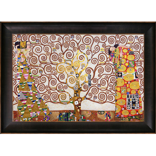 Gustav Klimt The Tree of Life, Stoclet Frieze, 1909 (Luxury Line) Hand Painted Framed Canvas Art