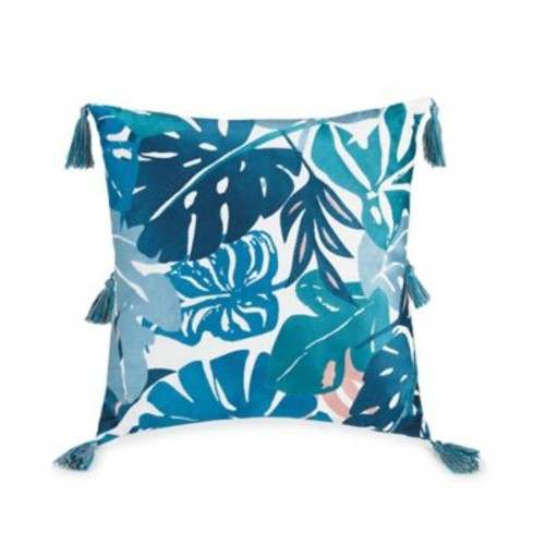 Justina Blakeney by Makers Collective Ojai Square Throw Pillow in Blue