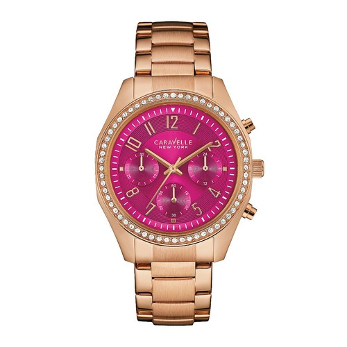Caravelle New York Women's Watch w/ Berry Chronograph Dial