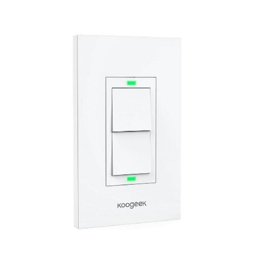 KOOGEEK Smart Wi-Fi Light Switch for Apple HomeKit with Siri Remote on 2.4Ghz Network (2-Way)