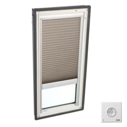 VELUX Cappuccino Solar Powered Light Filtering Skylight Blinds for FS M02 and FSR M02 Models
