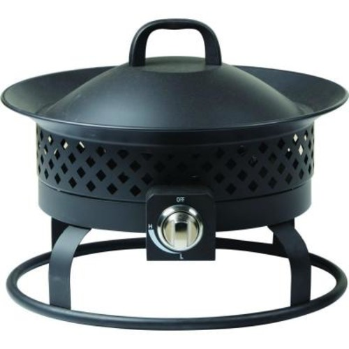 Bond Manufacturing 19 in. Wide Solara Stainless Steel Gas Bowl Fire Pit