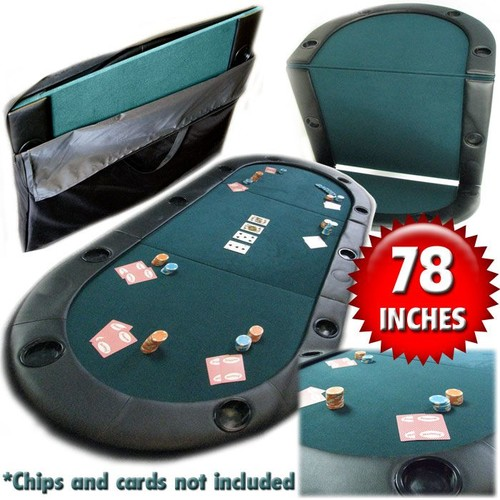 Trademark Texas Holdem Poker Folding Tabletop with Cupholders