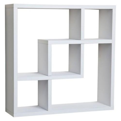 Danya B Geometric Square Wall Shelf - White