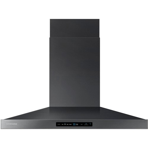 Samsung 36 in. Wall Mount Exterior Venting Range Hood in Black Stainless Steel with Wi-Fi