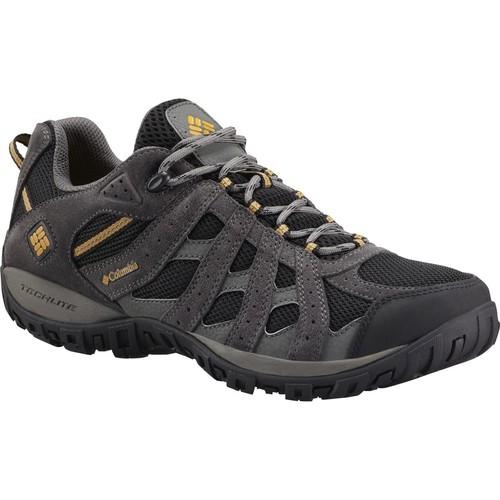 Columbia Men's Redmond Waterproof Hiking Shoes [Black, Squash, 7.5 D(M) US]