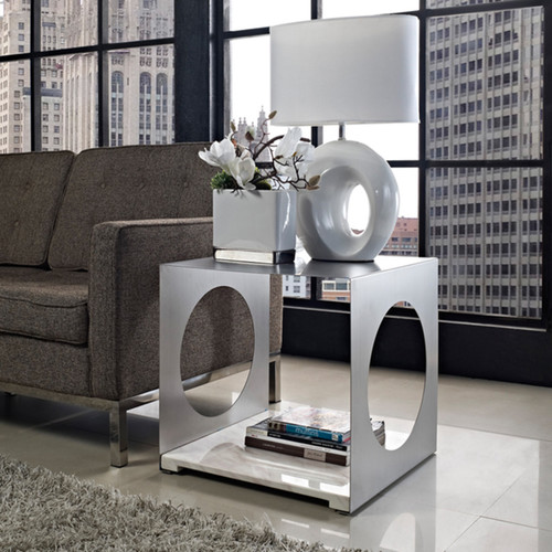 Modway Coffee, Console, Sofa & End Tables 'Surpass' Marble Top Modern Side Table