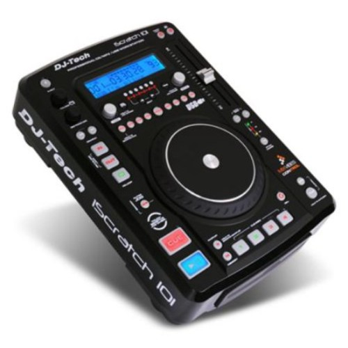 Dj Tech ISCRATCH101 Cd/mp3 Player W/ Integrated Soundcard & Dsp Effects