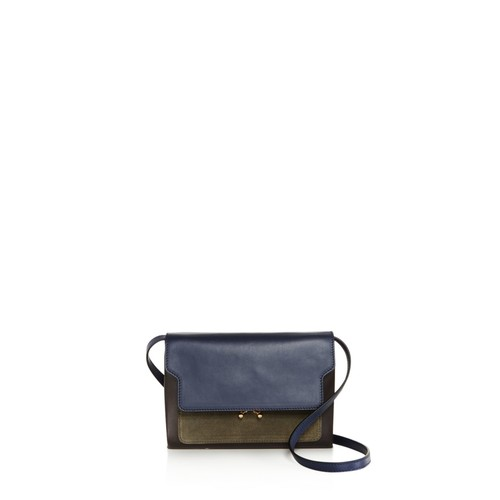 Trunk Mini Leather and Suede Crossbody