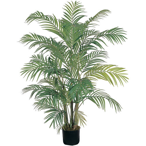 Nearly Natural 5001 Areca Decorative Silk Palm Tree, 4-Feet, Green