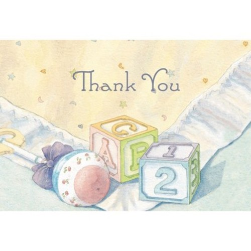 Hortense B. Hewitt 24 Count Baby Blocks Thank You Note Cards [Baby Blocks]