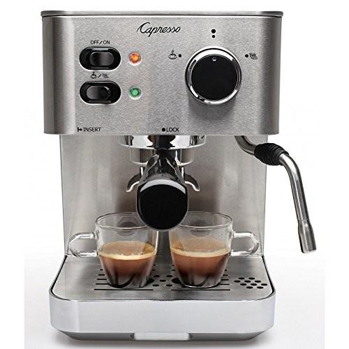 Capresso 118.05 EC PRO Espresso and Cappuccino Machine [Silver,