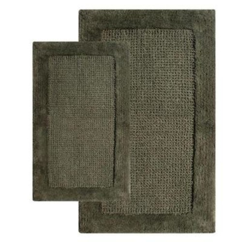 Chesapeake Merchandising 21 in. x 34 in. and 24 in. x 40 in. 2-Piece Naples Bath Rug Set in Peridot