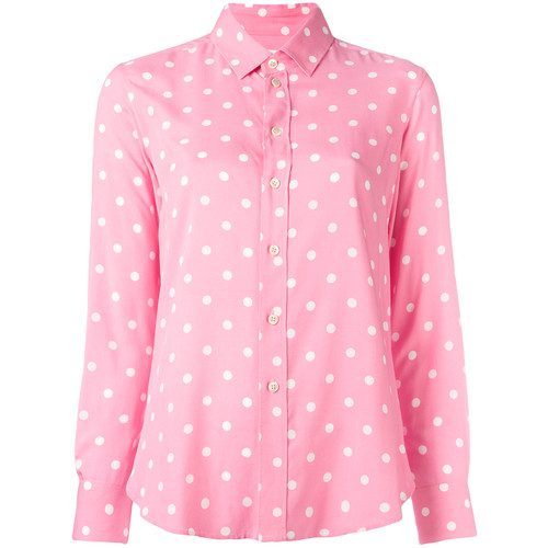 SAINT LAURENT Polka-Dot Shirt
